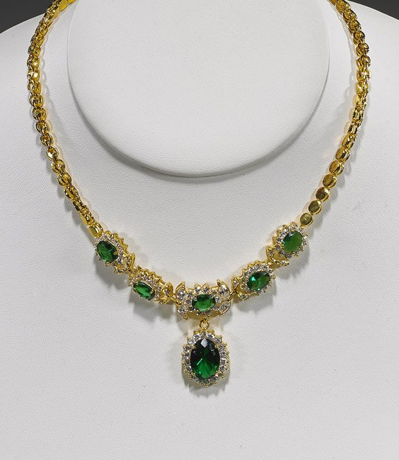 """Two Various """"Jeweled"""" Necklaces"""