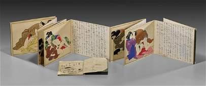 ANTIQUE JAPANESE SHUNGA ALBUM & 'PILLOW' BOOK