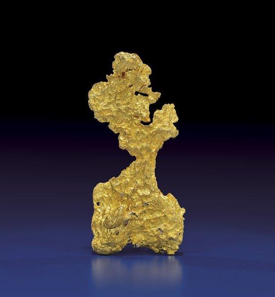 EXTRA-ANTHROPOMORPHIC GOLD NUGGET