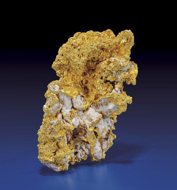 SENSATIONAL GOLD NUGGET WITH NATURAL QUARTZ