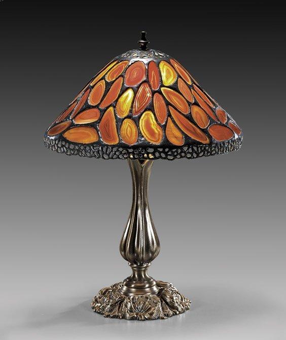TIFFANY STYLE AGATE LAMP SHADE
