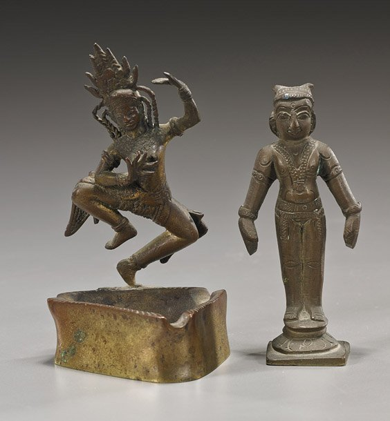Two Small Old Indian Bronzes