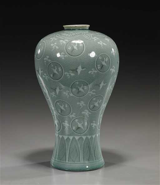 Korean Koryo Style Celadon Vase