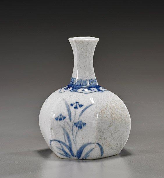 Korean Blue & White Porcelain Vase