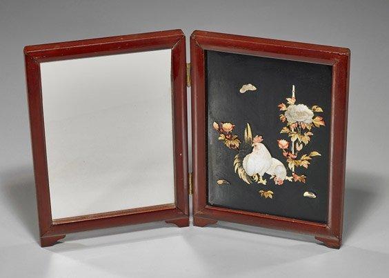 Old Japanese Appliqué Folding Mirror
