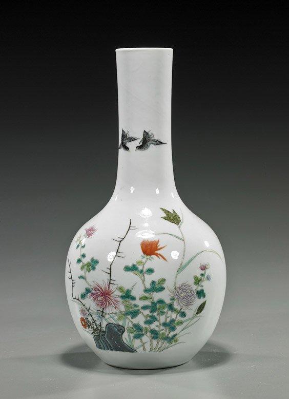 Old Chinese Famille Rose Porcelain Vase