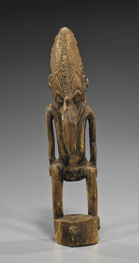 Tall Old New Guinea Carved Wood Figure
