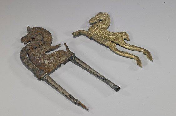 Two Old Indian Betel Nut Cutters