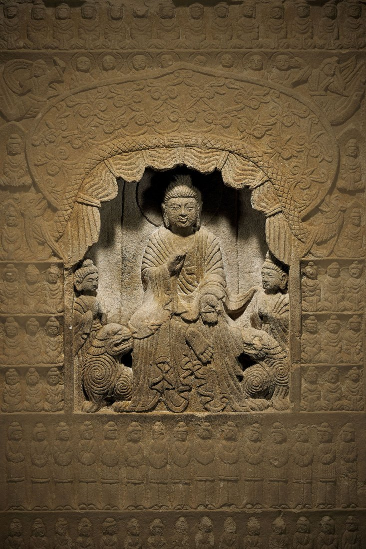 Massive Antique Chinese Carved Stone Stele