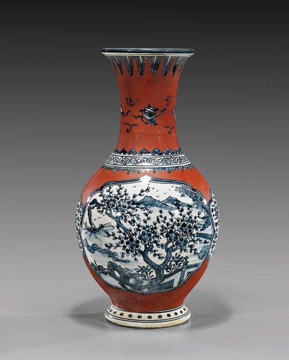 Unusual Chinese Soft Paste Porcelain Vase