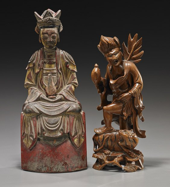 Two Chinese/Southeast Asian Wood Carvings