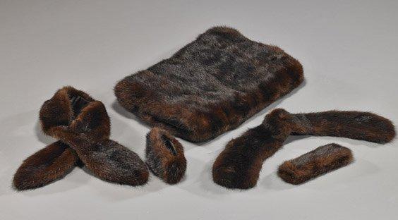 Suite of Japanese Mink Fur Accessories