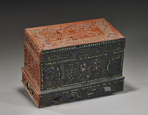 Antique Burmese Lacquer Wedding Box