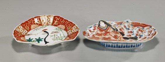 Two Antique Japanese Imari Dishes