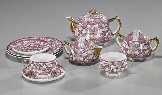 "Chinese ""Eggshell"" Porcelain Tea Set"