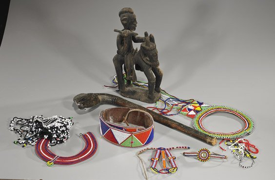 Group of Various Items: Chinese & African Works