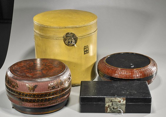 Group of Four Chinese Lacquer Boxes