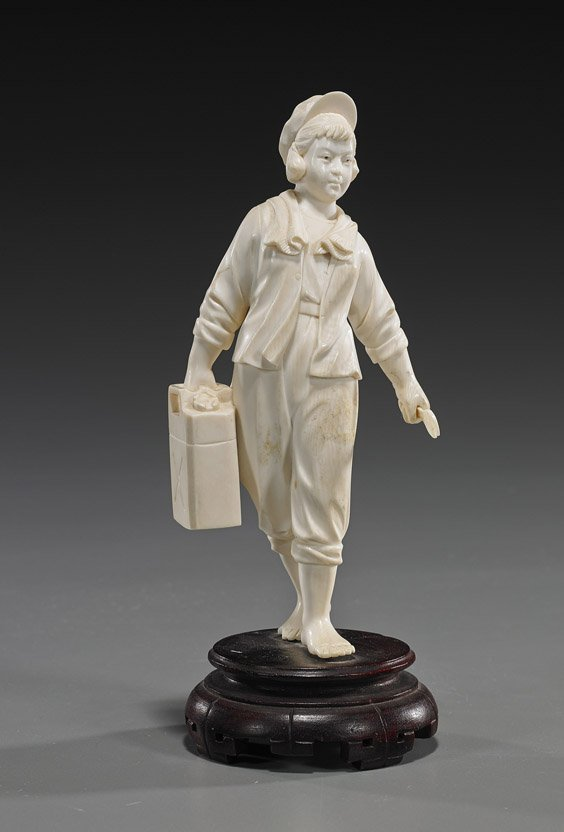 Old Chinese Ivory Cultural Revolution Figure