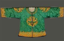 Two Old Chinese Embroidered Silk Opera Robes