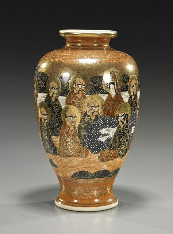 Old Japanese Satsuma Earthenware Vase