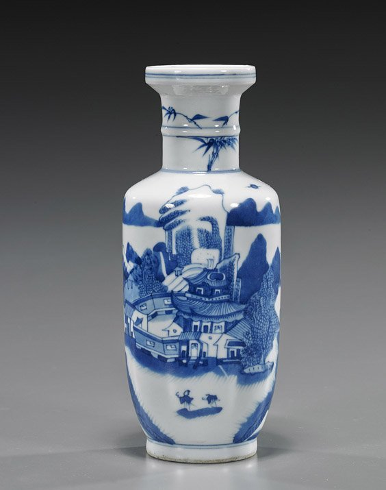 Chinese Blue & White Porcelain Cabinet Vase