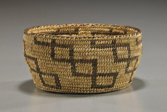 Native American Basketry Bowl: Papago