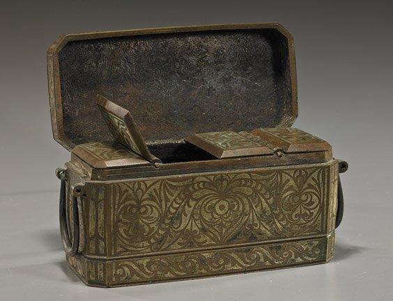 Antique Bronze Beetle Nut Box