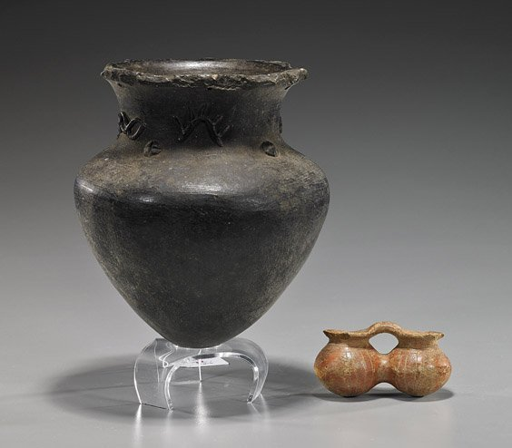 Two Various Pre-Columbian Pottery Vessels
