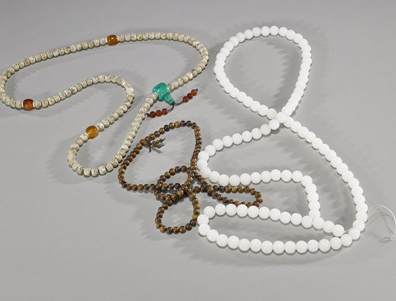 Group of Three Various Bead Necklaces