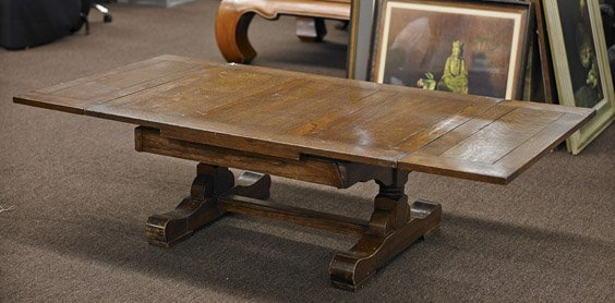 Rectangular Low Oak Coffee Table