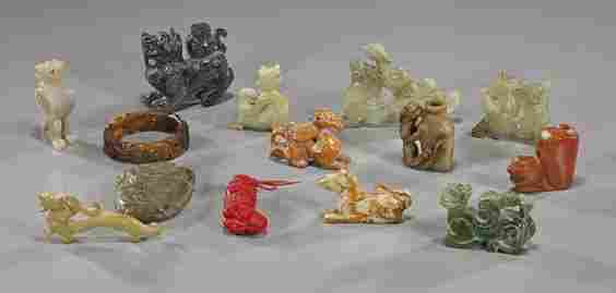 Group of 14 Various Chinese Carvings