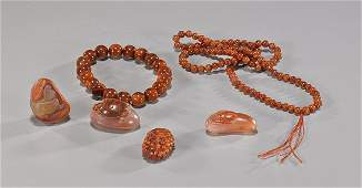 Group of Jasper Jewelry & Carved Toggles