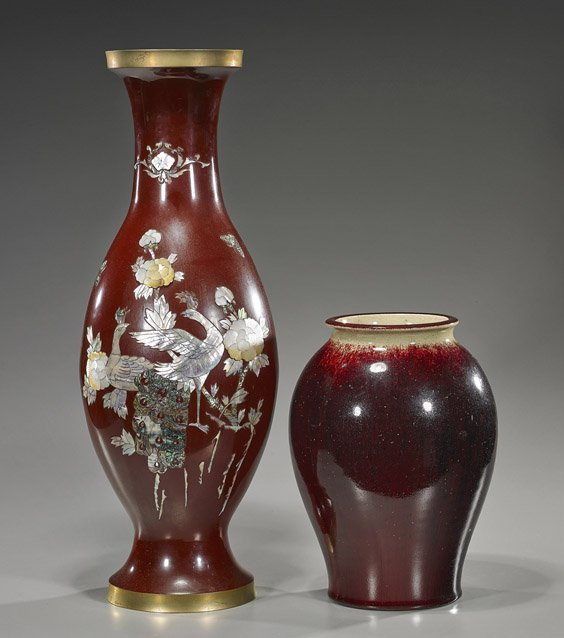 Two Asian Vases: Korean & Chinese