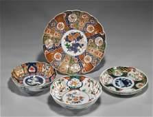 Four Various Imari Porcelain Dishes