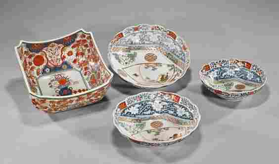 Group of Four Old Japanese Imari Bowls