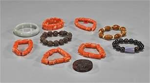 Collection of Ten Items Bracelets  Plaque