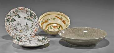 Group of Four Various Chinese Porcelain Dishes