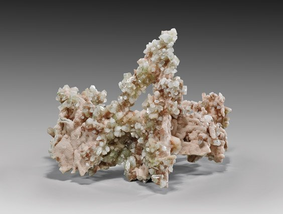 NATURAL CALCITE, STILBITE AND APOPHYLLITE SPECIMEN -