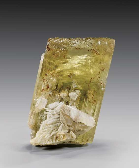 NATURAL HIDDENITE WITH TRIPHANE CRYSTAL