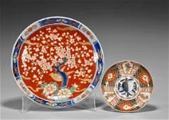 Two Japanese Imari Porcelains: Bowl & Plate