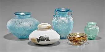 Five Pieces: Art Glass & Ceramics