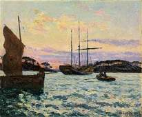 ANTIQUE OIL PAINTING BY MAXIME EL MAUFRA