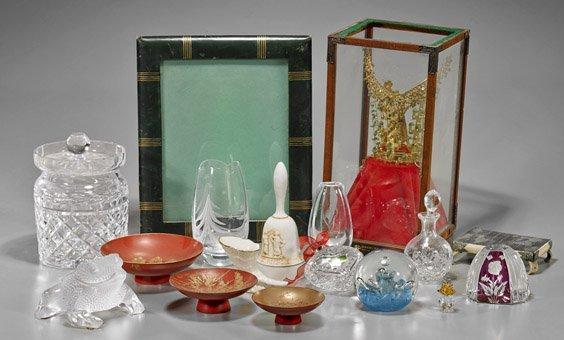 Seventeen Various Items: Glass & Porcelains