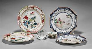 Three Pairs of Chinese Enameled Dishes