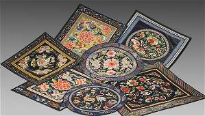 Seven Chinese Silk Embroideries