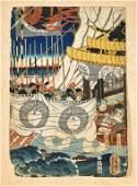 Thirteen Old/Antique Woodblock Prints