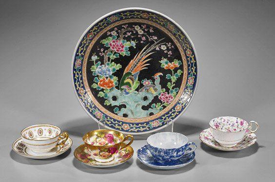 Old & Antique Porcelains: Plate & Teacups