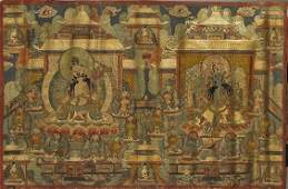 SinoTibetan Painted Thangka Tara