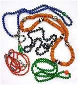 Five Various Chinese Bead Necklaces