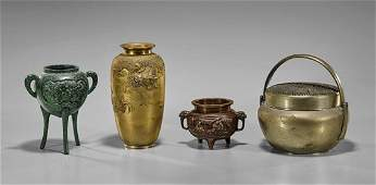 Four Chinese Mixed-Metal Vessels